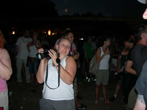 Julie in charge of the camera