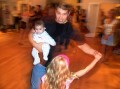 My favorite shot of the night. Jeff dances with daughter Grace, and Lauren Bess