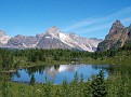 Cathedral Mtn & Hungabee Lake