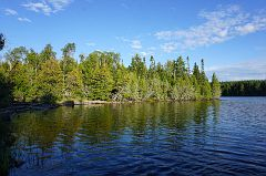 Alder Lake at the portage towards Canoe Lake