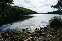 Back at the portage from Canoe Lake to Pine Lake