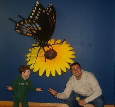 We went to the butterfly conservatory
