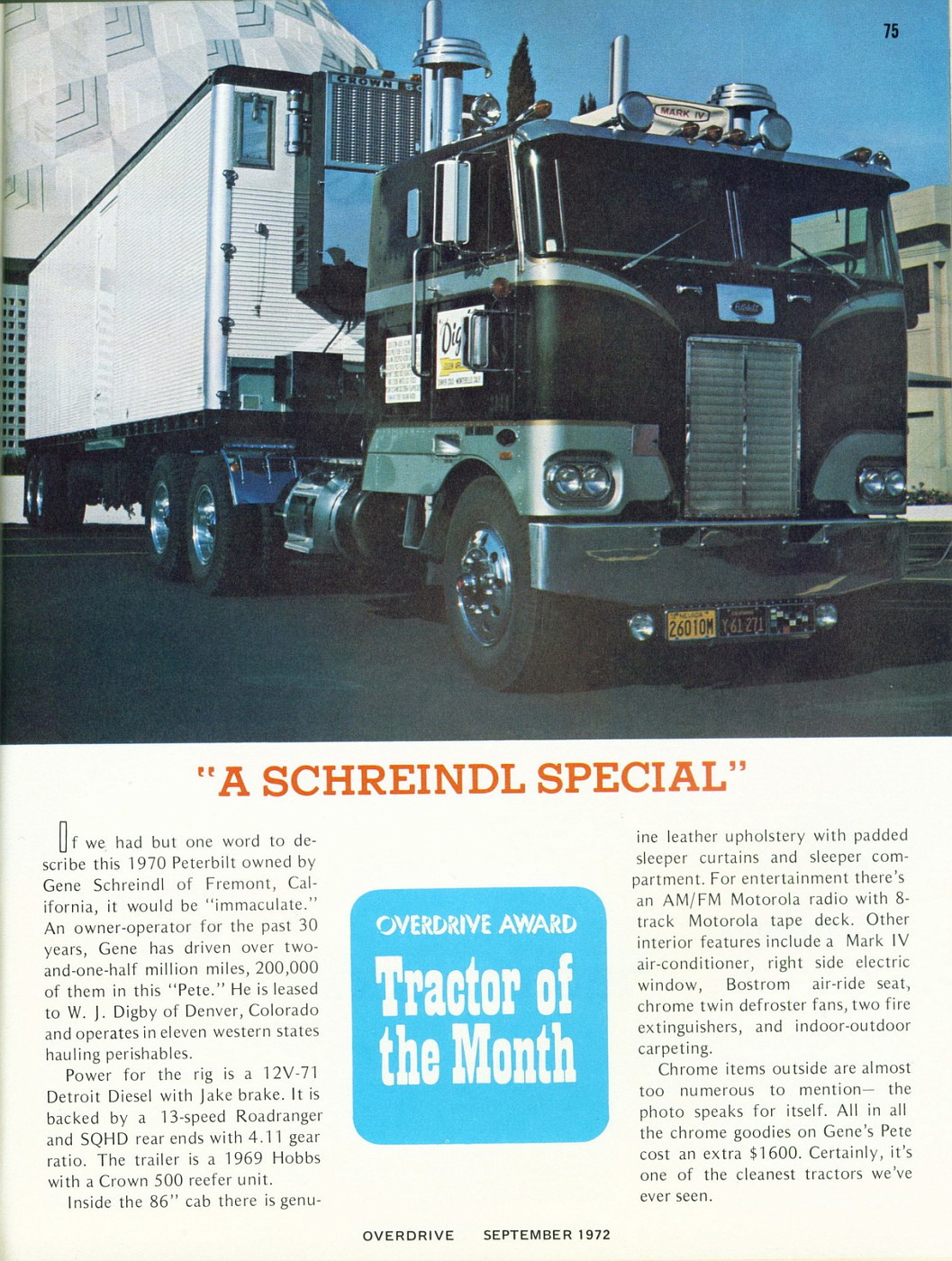 September 1972 Tractor of the Month