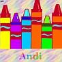 Crayons at schoolAndi