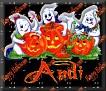 3 Ghosts & pumpkinAndi
