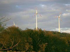 Windkraftwerke auf dem Piesberg