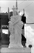Statute of Virgin Mary and Baby Jesus on top of Artillery Hill, Pleiku
