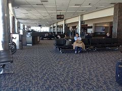 Waiting lounge, Rick Husband International Airport, Amarillo, Potter County, Texas, 2, APR 2016