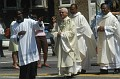Bishop-elect Sansaricq with Rev Donelson Thevenin, Rev Miguel Auguste and Msgr Rollin Darbouze walking to the Ordination