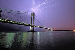 Lightening and the bridge