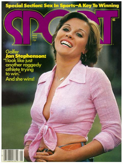 Jan Stephenson, May 1977 SPORT magazine cover.
