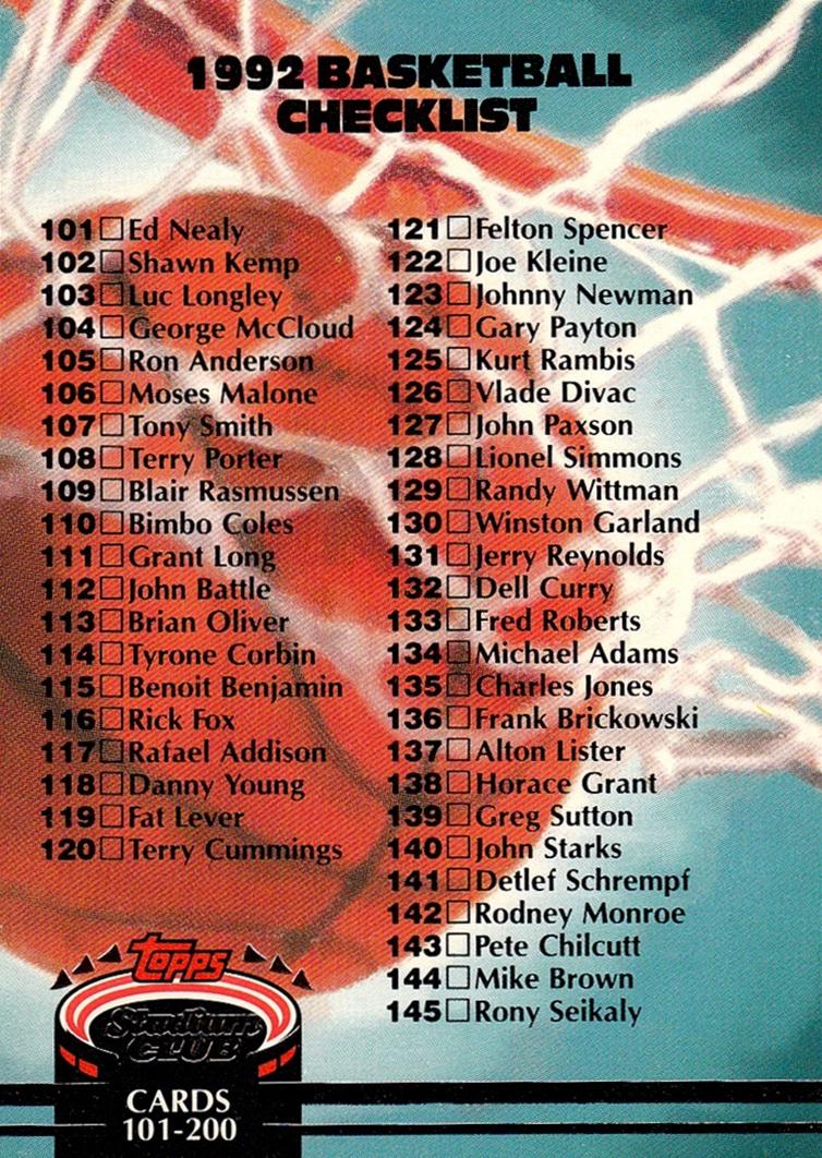 1992-93 Stadium Club #190 (1)