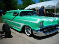 Rich old 57 Chevy sedan delivery