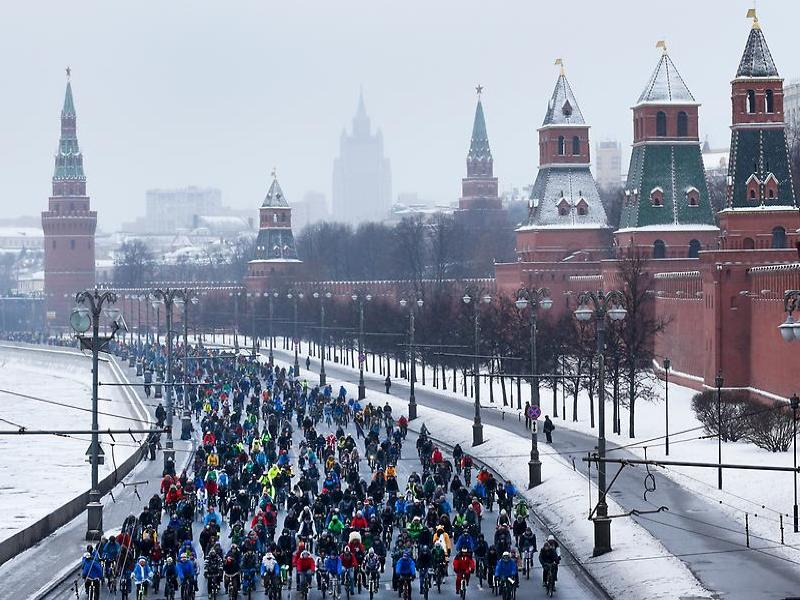 An unusual sight in Moscow