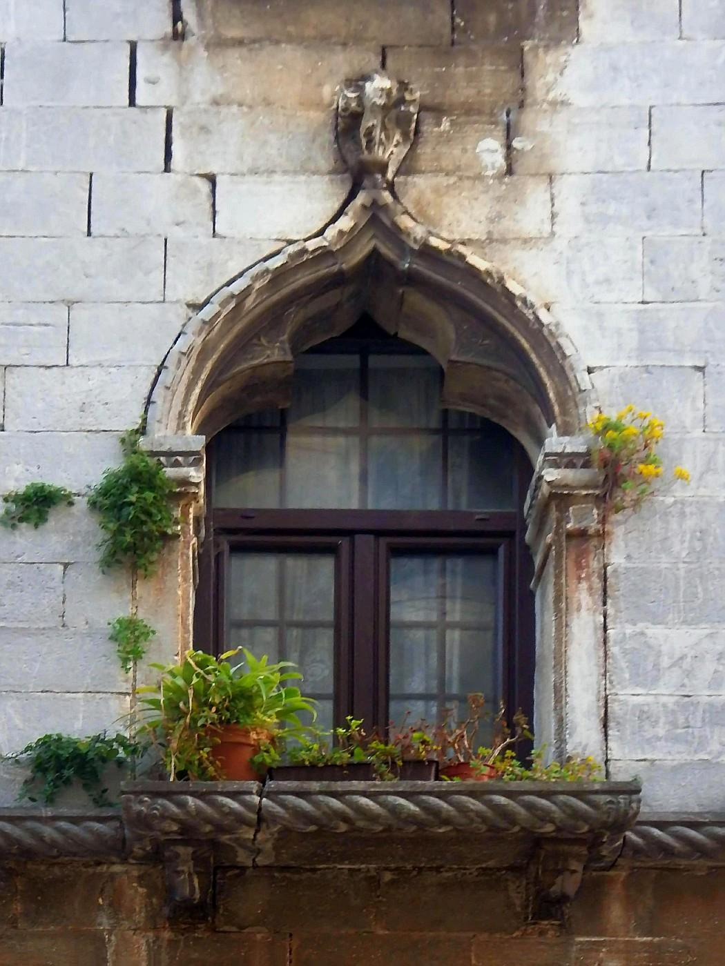 Fenster des gotischen Hauses