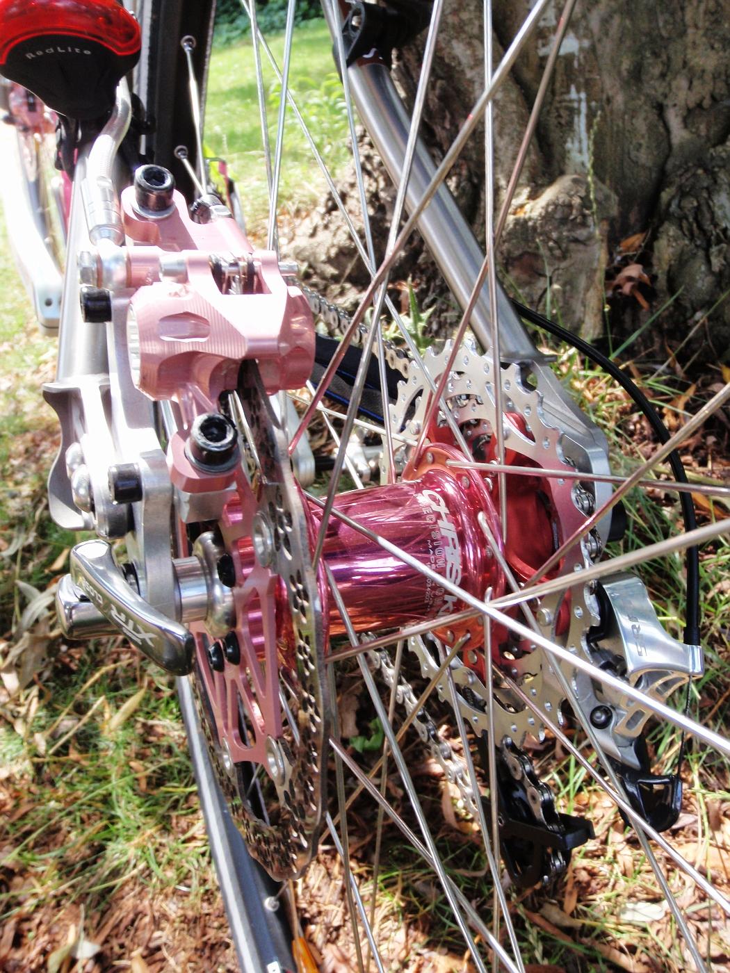 Rear hub of Ausilia's bike