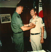 AG Commander and E. Ray Austin. 2nd ID in Korea, 1980