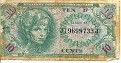 10 Cents - Military Payment Certificates