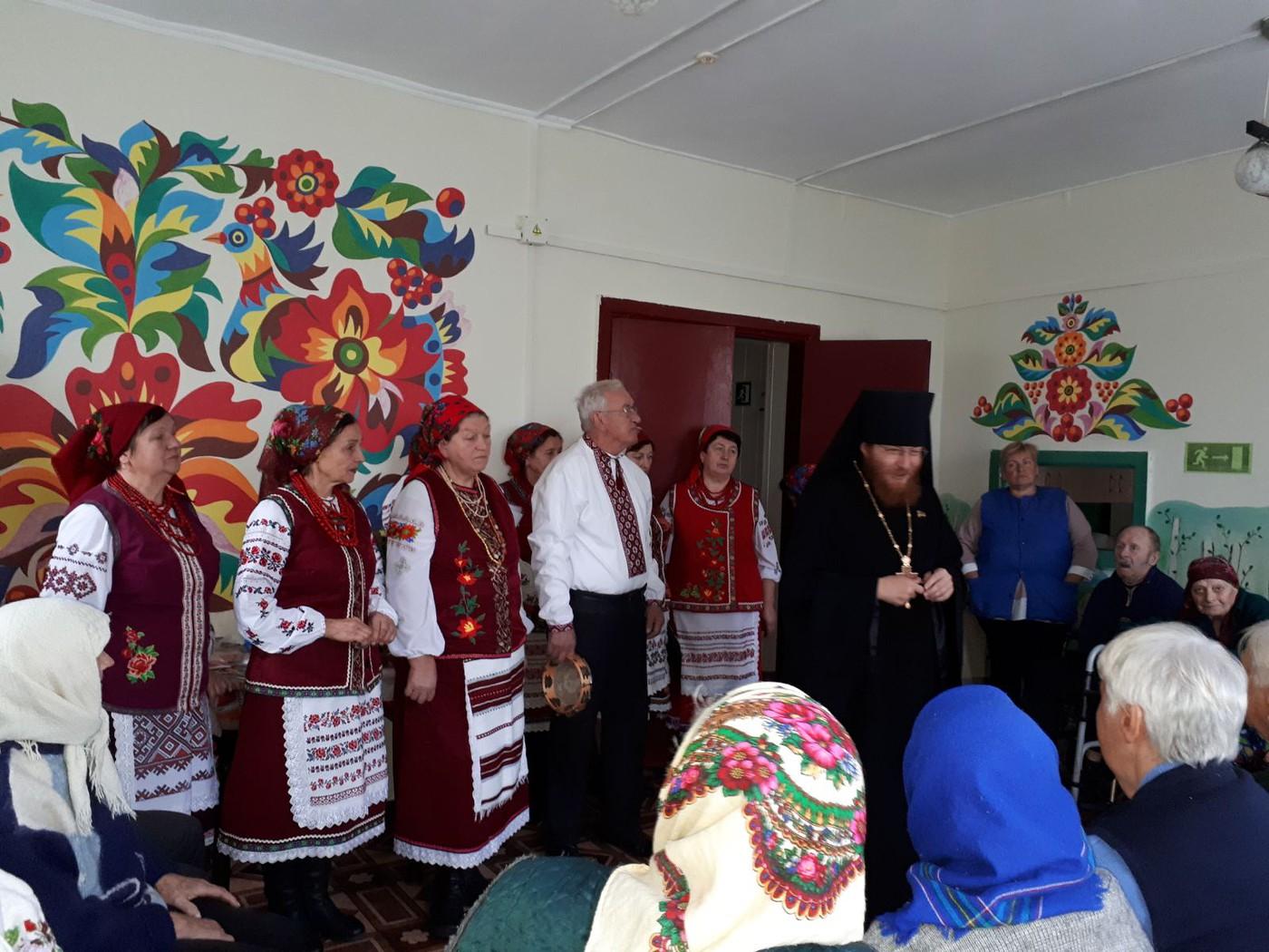 Архімандрит Філарет (Єгоров) у Будинку для літніх людей (Грузьке)