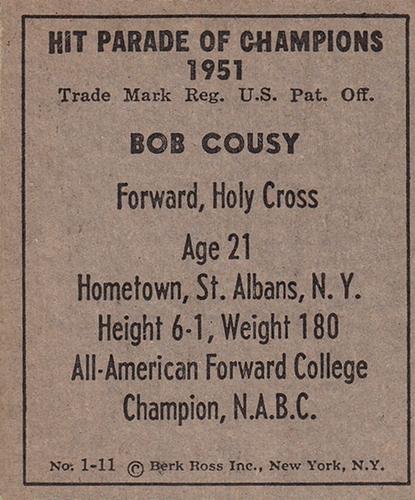 1951 Berk Ross Hit Parade of Champions #1-11 (2)