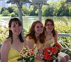 The bridesmaids...in yellow, of course.
