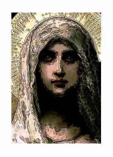 The Golden Pastel Madonna @2010 R valerie jagiello