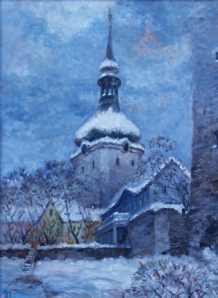 Niguliste in the snow