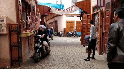 A modern Moroccan woman shopping