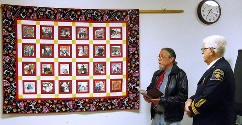 2015-6-01 WINDSOR LOCKS HERITAGE WEEK - FIREFIGHTERS QUILT - PRESENTATION - 10