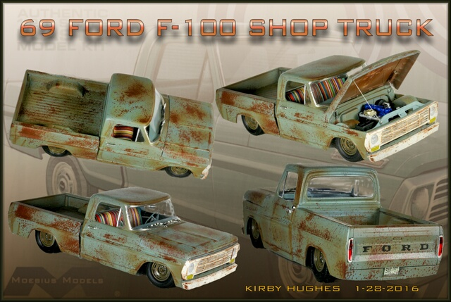 69 Ford F100 collage