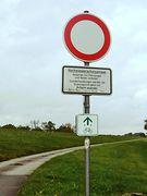 Durchfahrtverbot auf dem Elberadweg