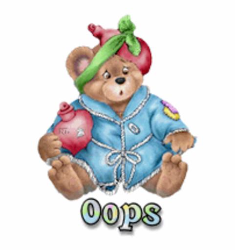 Oops - BearGetWellSoon