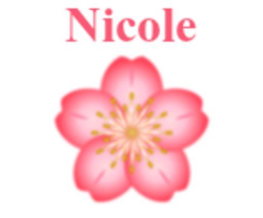Nicole - Flower-Vicki-Aug 7, 2018