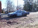 Civilian Crown Vic marked as a MA State police car