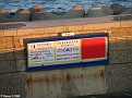 Advertising on harbour wall