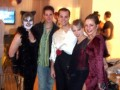 Danny with The Cheesy Ballroom Dancer & Vampira joined by Cat Lady and another Vampire Lady