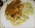 my dinner - a chicken dish with mushroom sauce - was tasty