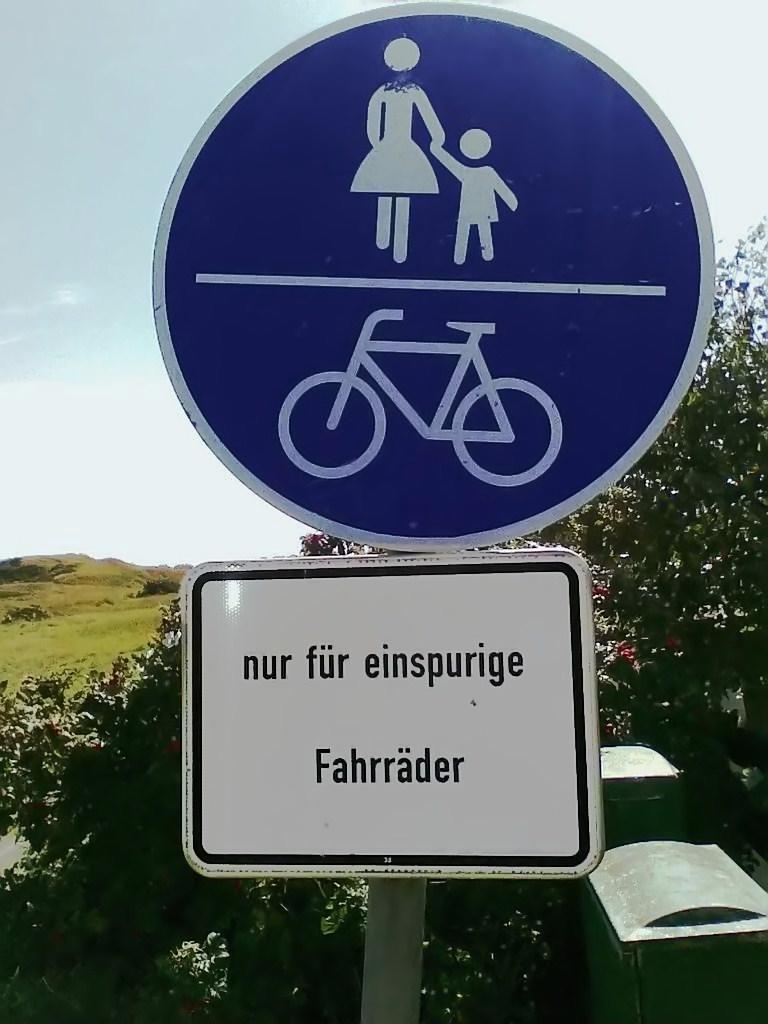 ...nur für einspurige Fahrräder