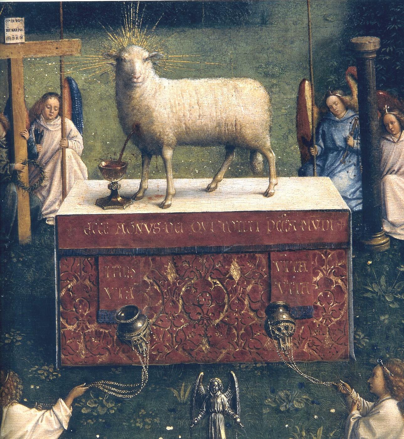Картинки по запросу Гентский алтарь Агнец