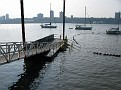 Nautica Triathlon NYC Swim End...  the swimmers will end at this ramp.