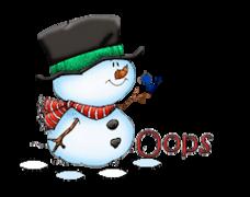 Oops - Snowman&Bird