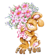 For You - BunnyWithFlowers
