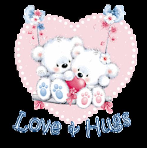 Love & Hugs - ValentineBearsCouple