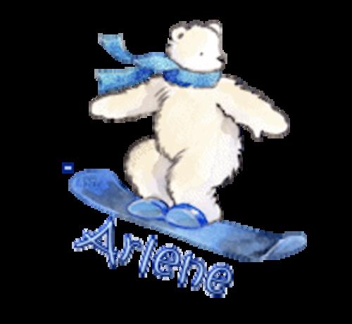 Arlene - SnowboardingPolarBear