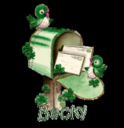 Becky - StPatrickMailbox16