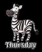 DOTW Thursday - DancingZebra