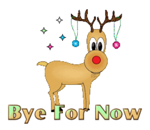 Bye For Now - ChristmasReindeer