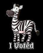 I Voted - DancingZebra