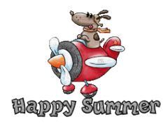 Happy Summer - DogFlyingPlane