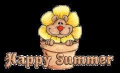 Happy Summer - FlowerPotBear